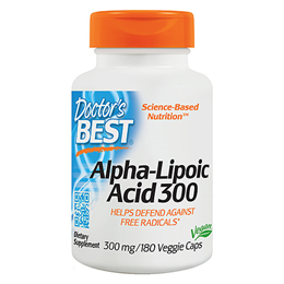 Doctors Best Alpha-Lipoic Acid - 180 x 300mg Vegicaps