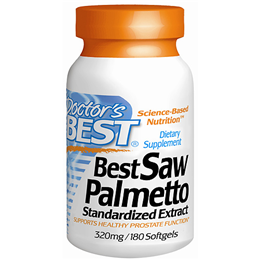 Doctors Best Saw Palmetto - 180 x 320mg Softgels