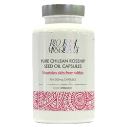 Rio Rosa Mosqueta Pure Chilean Rosehip Seed Oil - 90 x 500mg Capsules - Expiry date is 31st May 2020