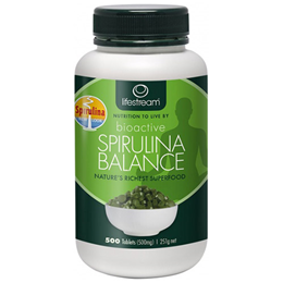 Lifestream Bioactive Spirulina - 500 x 500mg Tablets