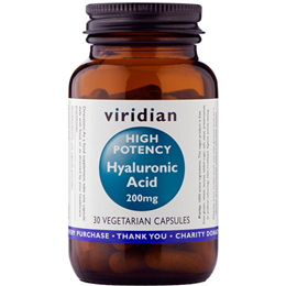 Viridian Hyaluronic Acid - High Potency - 30 x 200mg Vegicaps