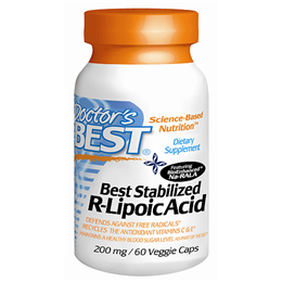 Doctors Best Stabilised R-Lipoic Acid - 60 x 200mg Vegicaps