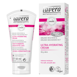 lavera Organic Wild Rose Ultra-Hydrating Cream for Dry Skin - 50ml