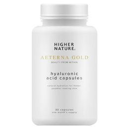 Higher Nature Aeterna Gold - Hyaluronic Acid - 30 x 100mg vegicaps - Best before date is 31st January 2018