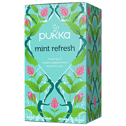 Pukka Teas Refresh - Organic Peppermint Tea - 20 Teabags x 4 Pack
