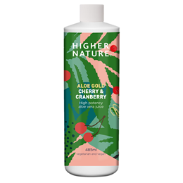 Higher Nature Aloe Gold - Aloe Vera Juice Cherry & Cranberry - 485ml