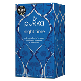 Pukka Teas Night Time - Organic Oat Flower - 20 Teabags x 4 Pack