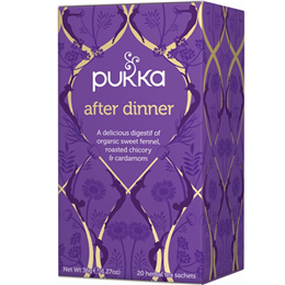 Pukka Teas After Dinner - Organic Sweet Fennel - 20 Teabags x 4 Pack
