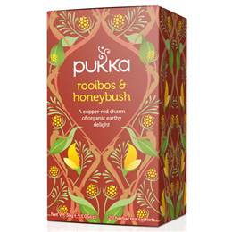 Pukka Teas Rooibos & Honeybush with Ginseng - 20 Teabags x 4 Pack