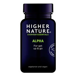 Higher Nature Alpha Get Up And Go - 30 Vegicaps