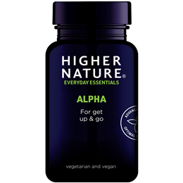 Higher Nature Alpha Get Up And Go - 90 Vegicaps