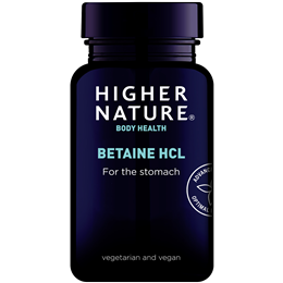 Higher Nature Betaine HCL - Digestive Supplement - 90 x 300mg vegicaps