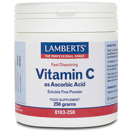 LAMBERTS Vitamin C as Ascorbic Acid - 250g Soluble Fine Powder