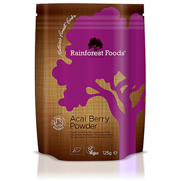 Rainforest Foods Organic Acai Berry - Freeze Dried - 125g Powder