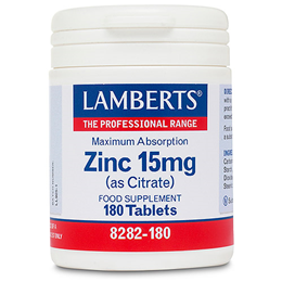 LAMBERTS Zinc (as Citrate) - 180 x 15mg Tablets