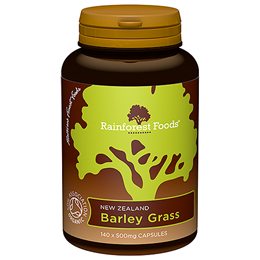 Rainforest Foods Organic Barley Grass - 140 x 500mg Capsules