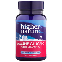 Higher Nature Immune Glucans - Vitamin C - 90 Vegicaps