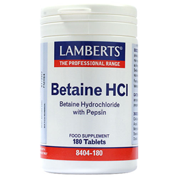 LAMBERTS Betaine HCl 324mg - Betaine HCl with Pepsin - 180 Tablets