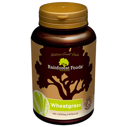 Rainforest Foods Organic Wheatgrass - 140 x 500mg Capsules
