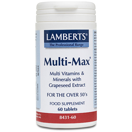LAMBERTS Multi-Max - Multi Vitamins & Minerals - Over 50s - 60 Tablets