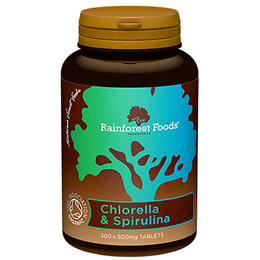 Rainforest Foods Organic Chlorella & Spirulina - 300 x 500mg Tablets