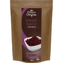 Green Origins Organic Maqui Berry - 125g Powder - Best before date is 28th February 2017