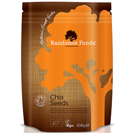 Rainforest Foods Organic Chia Seeds - Omega 3 & 6 - 300g
