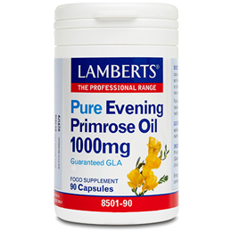 LAMBERTS Pure Evening Primrose Oil - 90 x 1000mg Capsules