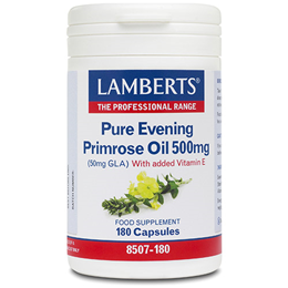 LAMBERTS Pure Evening Primrose Oil - 180 x 500mg Capsules