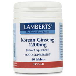 LAMBERTS Korean Ginseng - 60 x 1200mg Tablets