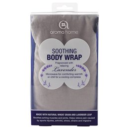 Aroma Home Soothing Body Wrap - Lavender Fragrance - Grey