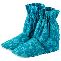 Aroma Home Feet Warmers - Printed Cotton - Turquoise