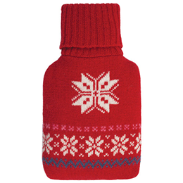 Aroma Home Microwaveable Mini Body Warmer - Red Snowflake