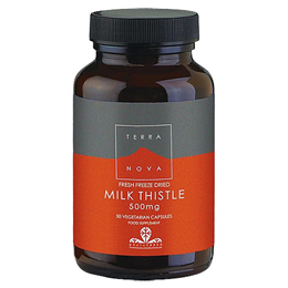 TERRANOVA Milk Thistle 500mg - 50 Vegicaps