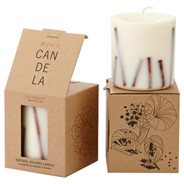 Munio Candela Scented Soy Wax Candle - Cinnamon Aroma - 515ml