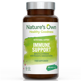 Natures Own Immune Support - Beta Glucan - 60 Vegicaps