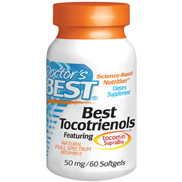 Doctors Best Tocotrienols - Natural Vitamin E - 60 x 50mg Softgels