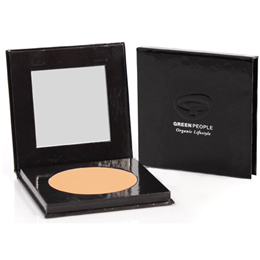 Green People Organic Make-Up - Pressed Powder - Caramel Medium - 10g