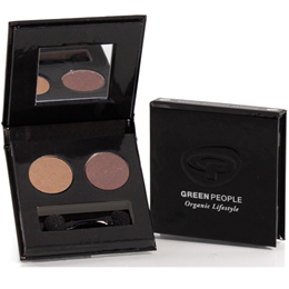Green People Organic Night Forest Eye Duo - Owl Taupe and Mink Brown