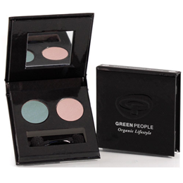 Green People Organic Royal Tea Eye Duo - Teal & Pink