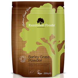Rainforest Foods Organic New Zealand Barley Grass - 200g Powder