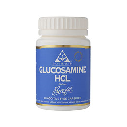 Bio Health Glucosamine HCL - Hydrochloride - 60 x 600mg Vegicaps - Best before date is 28th February 2021