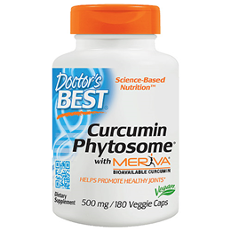 Doctors Best Curcumin Phytosome with Meriva -180 x 500mg Vegicaps