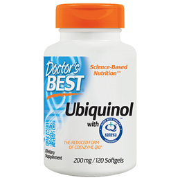 Doctors Best Ubiquinol - Kanekas QH - CoEnzyme - 120 x 200mg Softgels