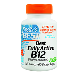 Doctors Best Fully Active B12 - 60 x 1500mcg Vegicaps