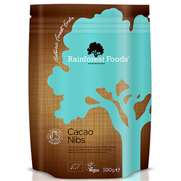 Rainforest Foods Organic Cacao Nibs - 300g
