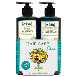A kin Hair Care Duo - Unscented Gentle Shampoo & Conditioner-2 x 500ml