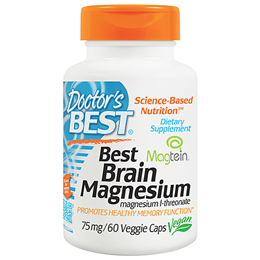 Doctors Best Brain Magnesium - 60 x 75mg Vegicaps