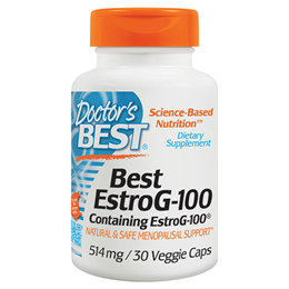Doctors Best EstroG-100 - Menopausal Support - 30 x 514mg Vegicaps