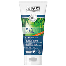 lavera Men Sensitv - 3 in 1 Shower Gel - Skin and Hair - 200ml